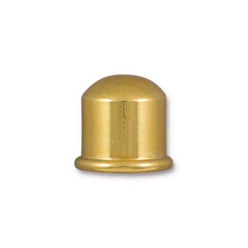 Cupola 10mm Cord End, Gold Plate, 10 per Pack