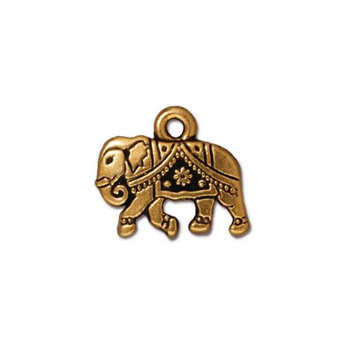 Gita Charm, Antiqued Gold Plate, 20 per Pack