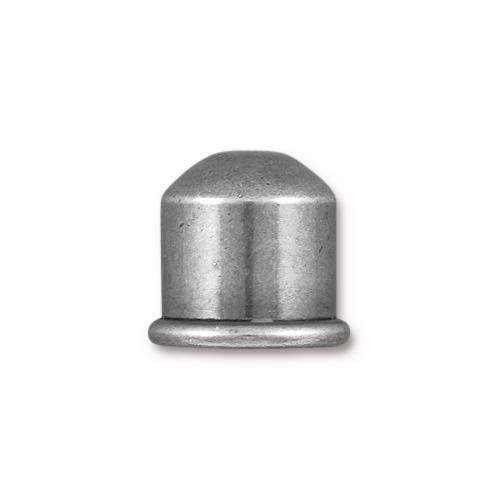 Cupola 10mm Cord End, Oxidized Tin Plate, 10 per Pack