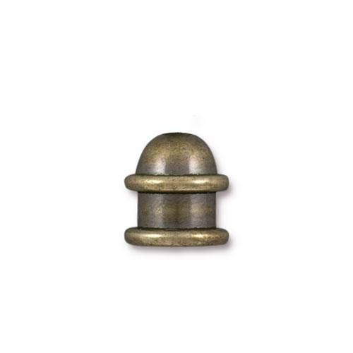 Capitol 6mm Cord End, Oxidized Brass, 20 per Pack