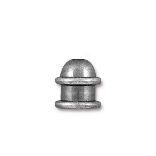 Capitol 6mm Cord End, Oxidized Tin Plate, 20 per Pack