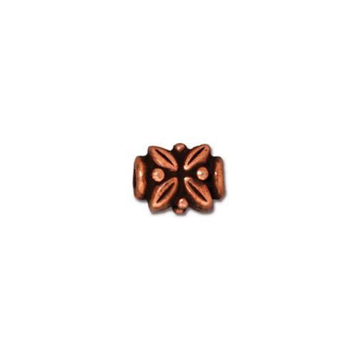 Leaf Bead, Antiqued Copper Plate, 20 per Pack