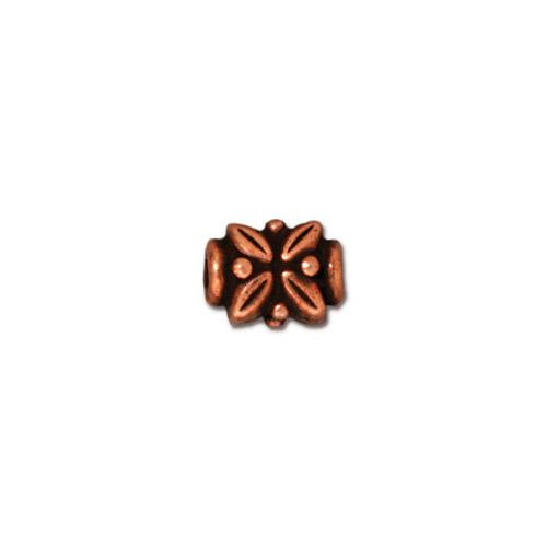 Leaf Bead, Antiqued Copper Plate, 20 per Pack