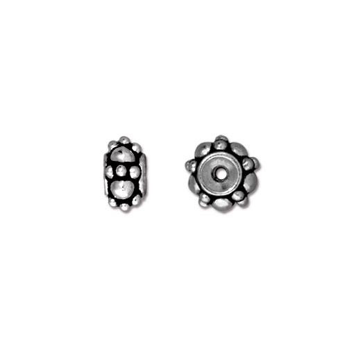 Turkish Bead, Antiqued Silver Plate, 20 per Pack
