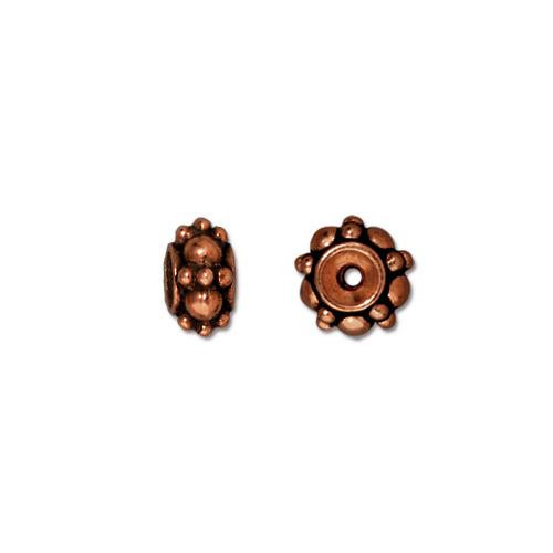 Turkish Bead, Antiqued Copper Plate, 20 per Pack