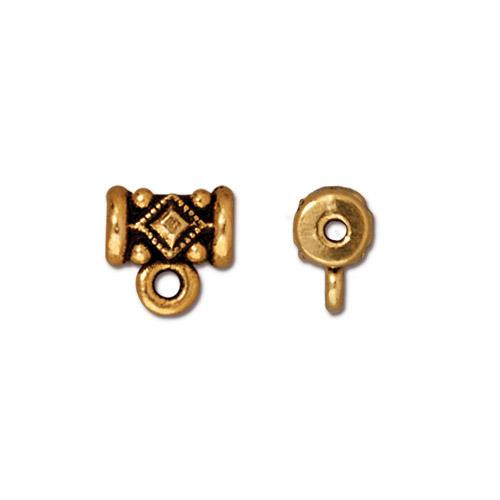Noble Bail, Antiqued Gold Plate, 20 per Pack