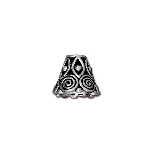 Spiral Cone, Antiqued Silver Plate, 20 per Pack