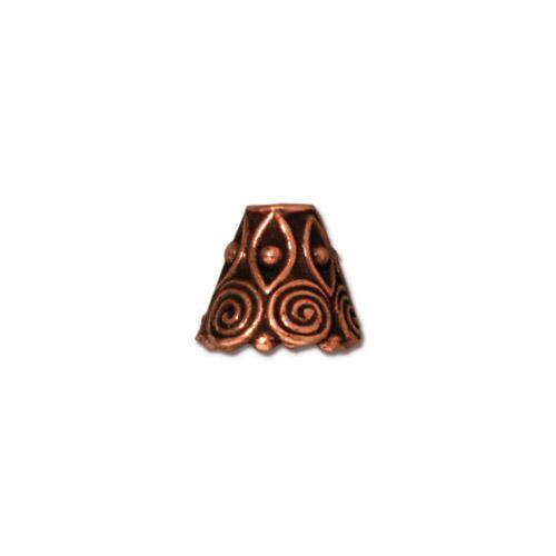 Spiral Cone, Antiqued Copper Plate, 20 per Pack
