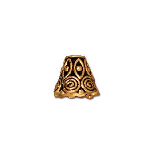 Spiral Cone, Antiqued Gold Plate, 20 per Pack