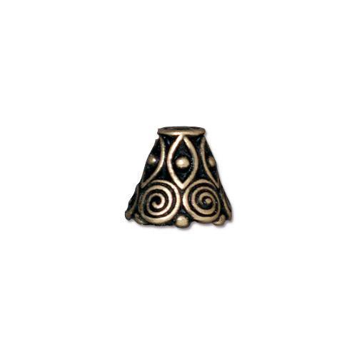 Spiral Cone, Oxidized Brass Plate, 20 per Pack