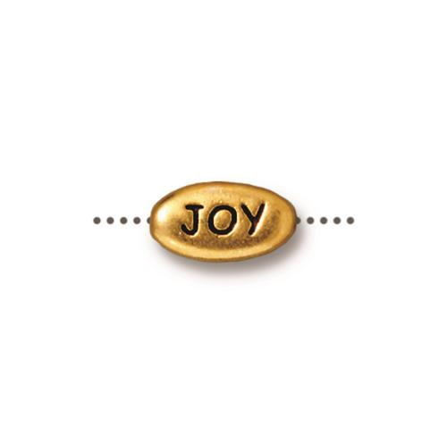 Joy Word Bead, Antiqued Gold Plate, 20 per Pack