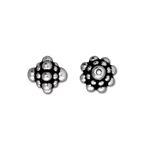 Pamada Bead, Antiqued Silver Plate, 20 per Pack