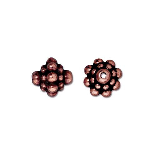 Pamada Bead, Antiqued Copper Plate, 20 per Pack
