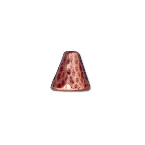 Hammertone Cone, Antiqued Copper Plate, 20 per Pack