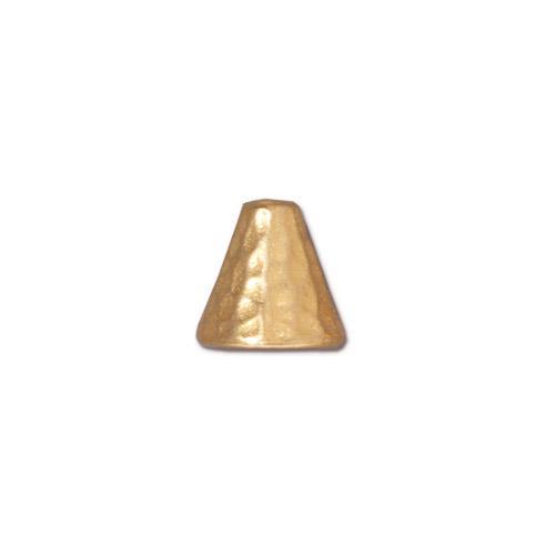 Hammertone Cone, Gold Plate, 20 per Pack