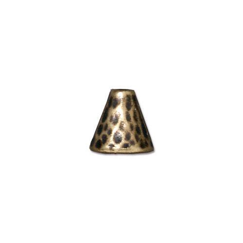 Hammertone Cone, Oxidized Brass Plate, 20 per Pack