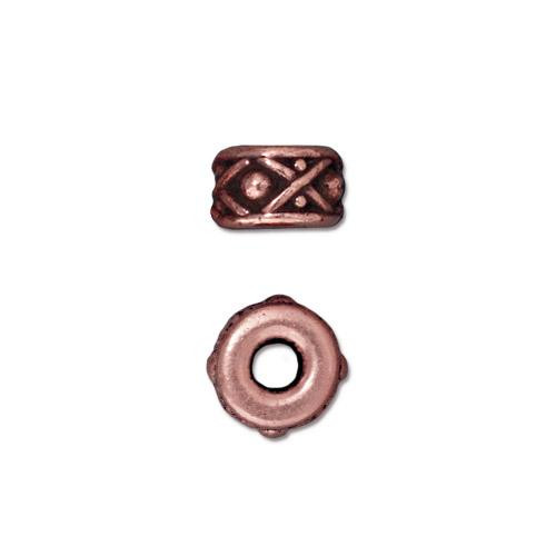 Legend 8mm Large Hole Bead, Antiqued Copper Plate, 20 per Pack