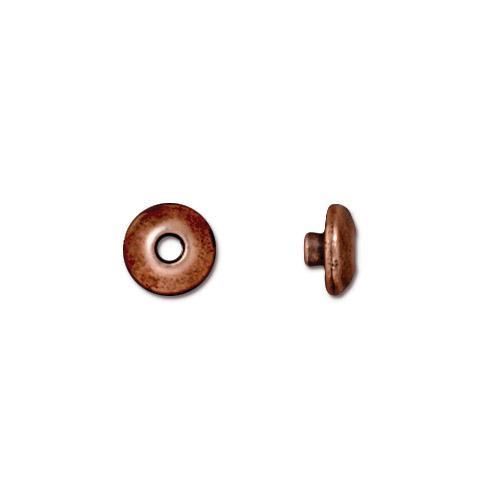 Classic 6mm BeadAligner, 2.5mm Peg, Antiqued Copper Plate, 100 per Pack