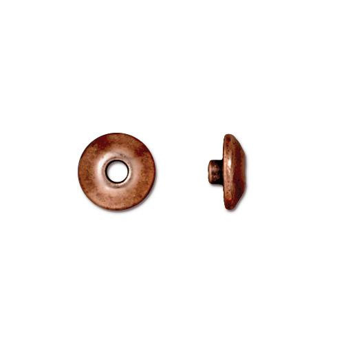 Classic 8mm BeadAligner, 2.5mm Peg, Antiqued Copper Plate, 50 per Pack