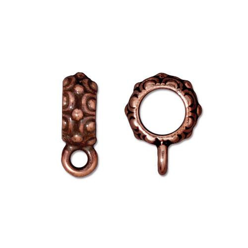 Oasis Bail Large Diameter, Antiqued Copper Plate, 20 per Pack