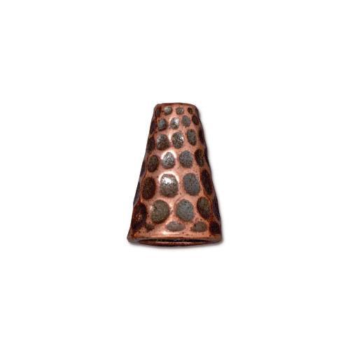 Tall Hammertone Cone, Antiqued Copper Plate, 20 per Pack