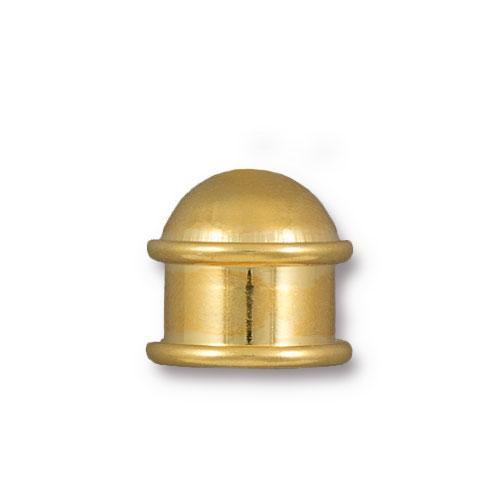 Capitol 10mm Cord End, Gold Plate, 10 per Pack