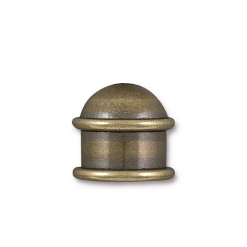 Capitol 10mm Cord End, Oxidized Brass, 10 per Pack