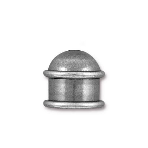 Capitol 10mm Cord End, Oxidized Tin Plate, 10 per Pack