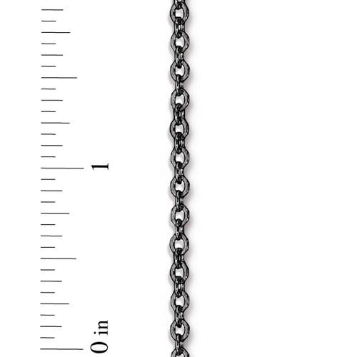 Flattened Brass Cable Chain 4x2.5mm, Black Plate, 1 per Pack