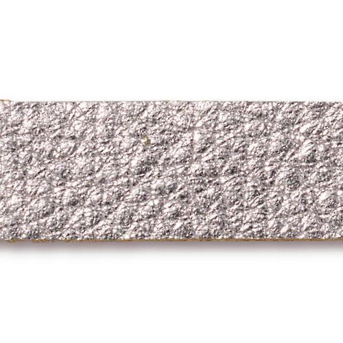 Leather Strap half inch by 10 inch in Silver, 10 per Pack