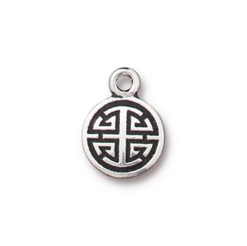 Chinese Lu Charm, Antiqued Silver Plate, 20 per Pack