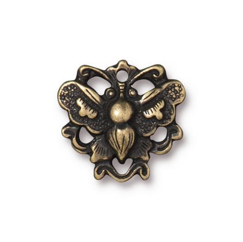 Butterfly Link, Oxidized Brass Plate, 20 per Pack