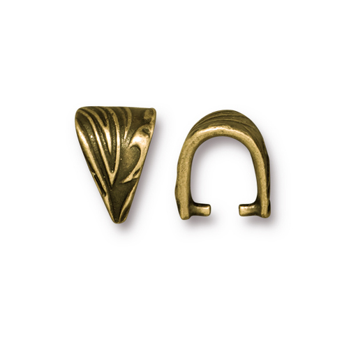Small Jardin Pinch Bail, Antiqued Gold Plate, 20 per Pack