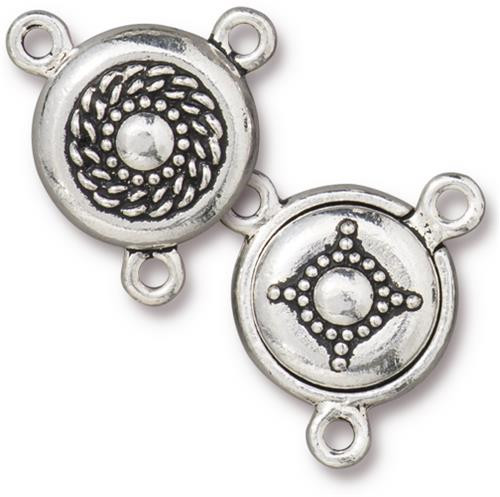 Opulence Magnetic Clasp Set, Antiqued Silver Plate, 5 per Pack