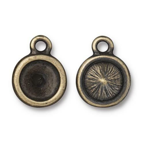 Plain SS39 Chaton Bezel Drop, Oxidized Brass Plate, 20 per Pack