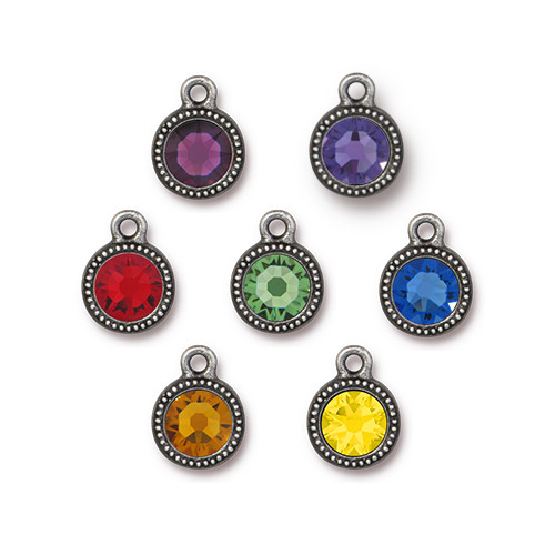 Chakra Mix Beaded Drop, Antiqued Pewter, 35 per Pack
