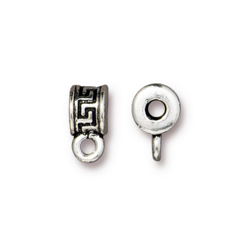 Meandering Spacer Bail, Antiqued Silver Plate, 20 per Pack