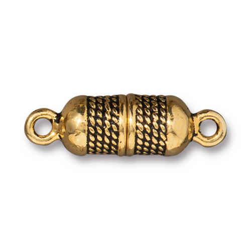 Rope Magnetic Clasp, Antiqued Gold Plate, 5 per Pack