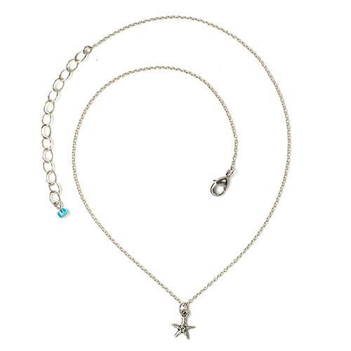 Sea Star Necklace, Antiqued Rhodium Plate, 3 per Pack