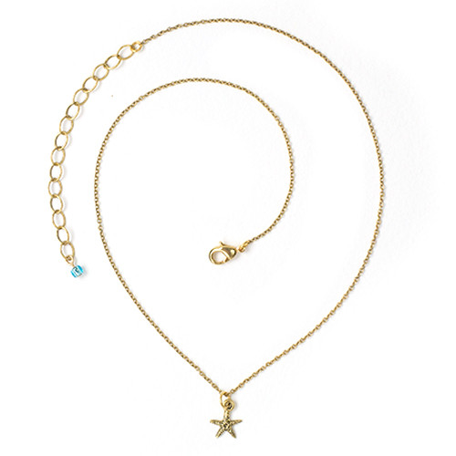 Sea Star Necklace, Antiqued Gold Plate, 3 per Pack