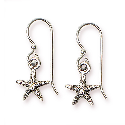 Sea Star Earrings, Antiqued Rhodium Plate, 3 per Pack