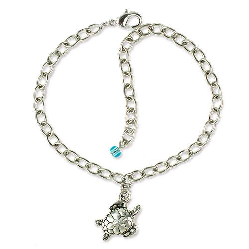 Sea Turtle Bracelet, Antiqued Rhodium Plate, 3 per Pack