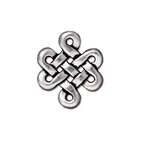 Eternity Link, Antiqued Silver Plate, 20 per Pack