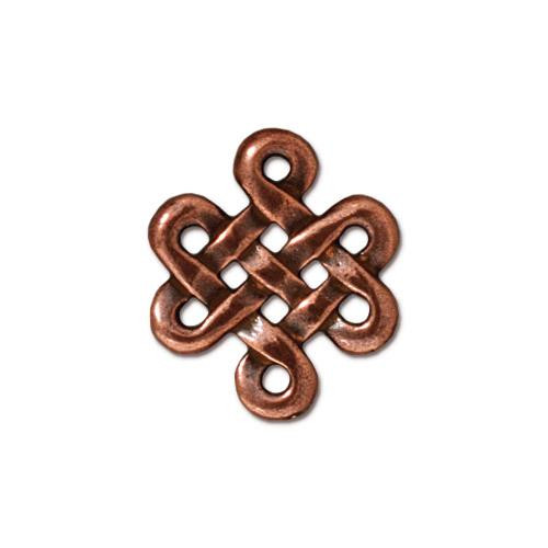 Eternity Link, Antiqued Copper Plate, 20 per Pack