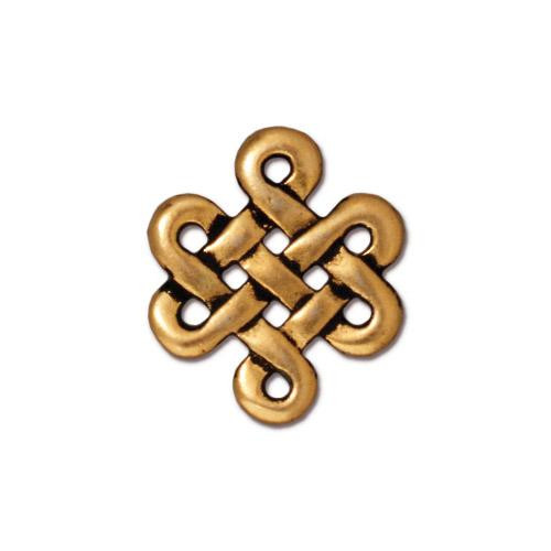 Eternity Link, Antiqued Gold Plate, 20 per Pack