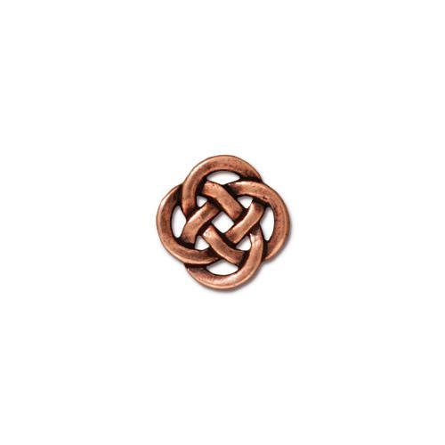 Celtic Open Link, Antiqued Copper Plate, 20 per Pack