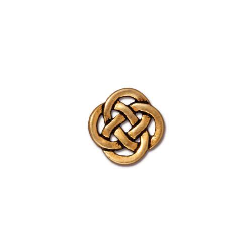 Celtic Open Link, Antiqued Gold Plate, 20 per Pack