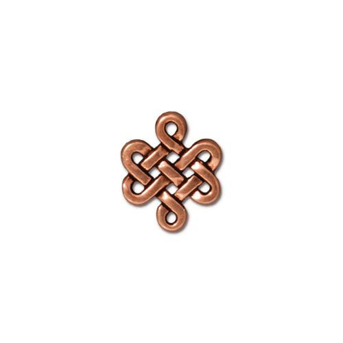 Small Eternity Link, Antiqued Copper Plate, 20 per Pack