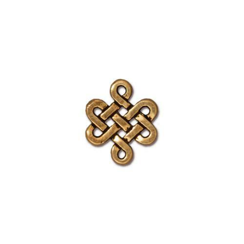 Small Eternity Link, Antiqued Gold Plate, 20 per Pack