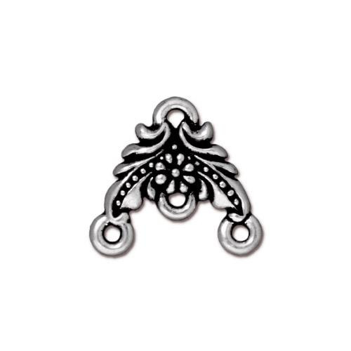 Garland Link, Antiqued Silver Plate, 20 per Pack
